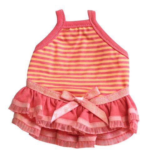 Guinea Pig Dress (Pink/Orange Border A), $16.50