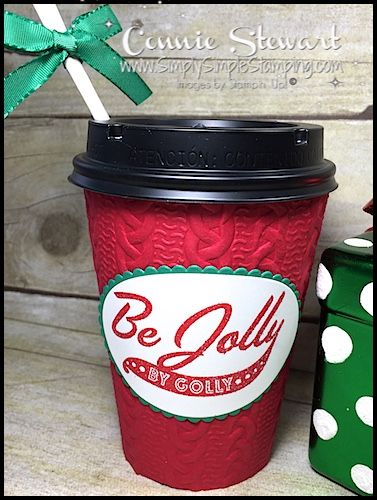 Video Tutorial - Be Jolly By Golly To Go Cup
