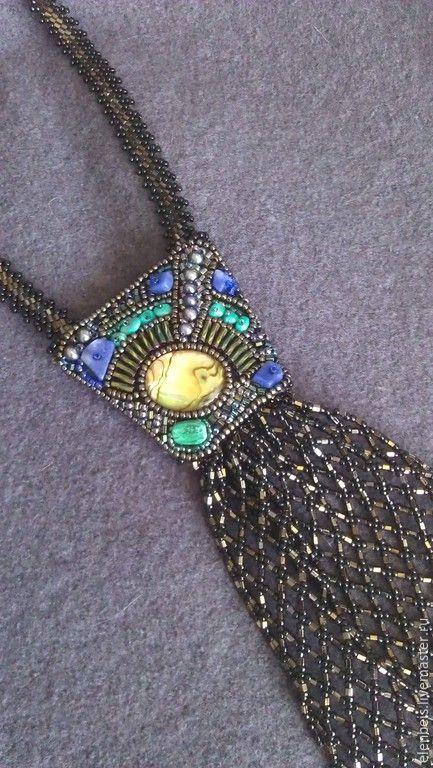 Купить Галстук с перламутром-гелиотисом - абстрактный, сине-зеленый, разноцветный, галстук ручной работы