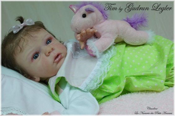 NEW Reborn Baby GIRL TIM by GUDRUN LEGLER    sweet baby   NO RESERVE