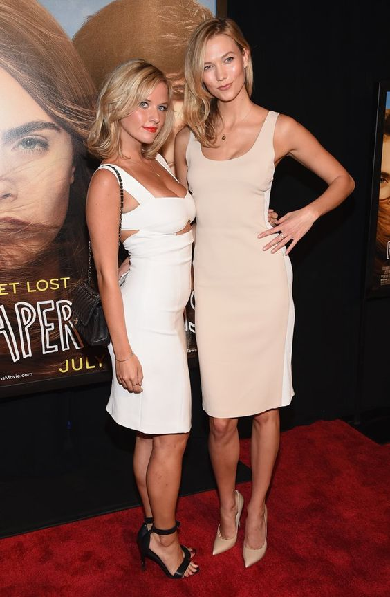 Pin for Later: Karlie Kloss Brings Her Ridiculously Gorgeous Sister to the Paper Towns Premiere in NYC