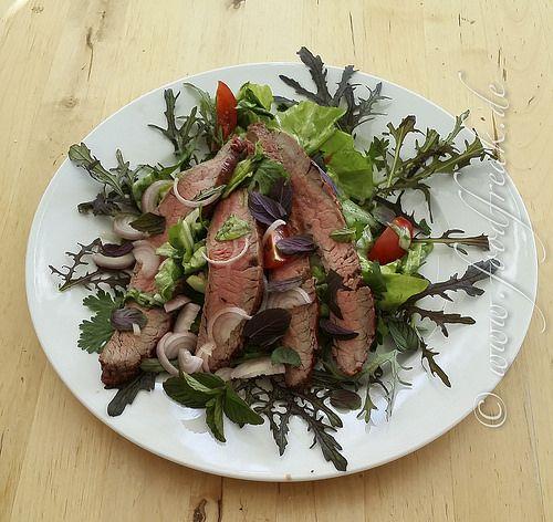 Salat mit Flank Steak, thailändisch inspiriert   Foodfreak