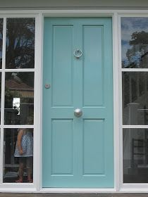 Benjamin Moore spirit in the sky turquoise door. So glad I found the name of it!