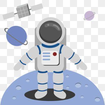 رواد الفضاء يهبطون في القمر الصناعي الفراغ رائد فضاء اللون الرمادي Png والمتجهات للتحميل مجانا Person Cartoon Outer Space Cute Cartoon