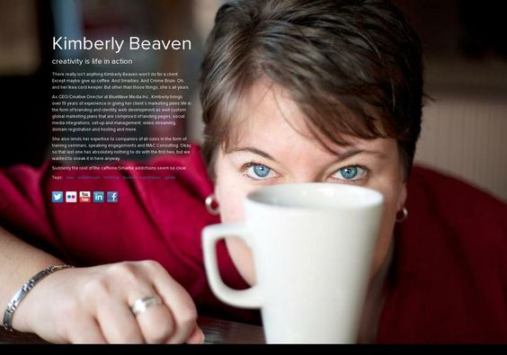 Kimberly Beaven's page on about.me – http://about.me/kimberlybeaven