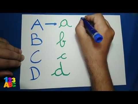تعلم كيفية كتابة الحروف الأبجدية الفرنسية بخط جميل طريقة سهلة Abcd Youtube Baby Education Education Abs