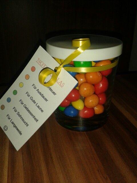 Notfallglas als kleines geschenk abschiedsgeschenk - Geschenk erzieherin weihnachten ...