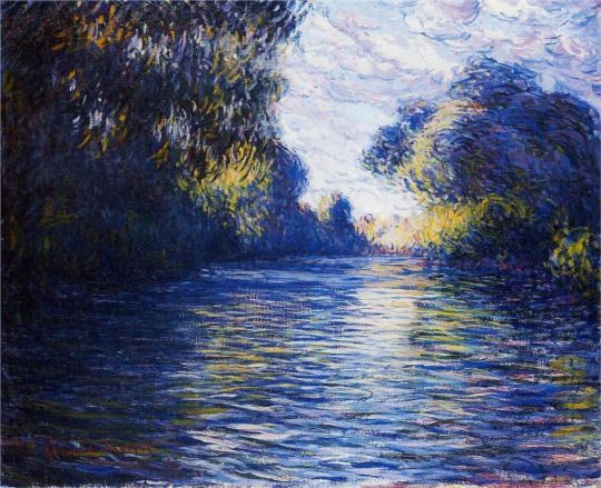 Morning on the Seine by Claude Monet: