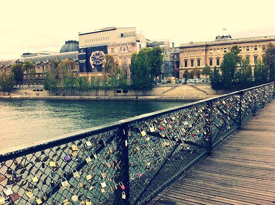 Paris locks of love, via Flickr.