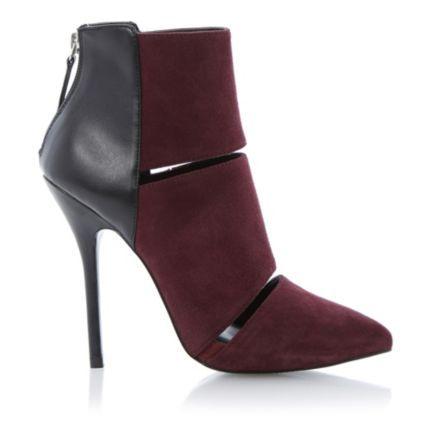 602e1d5af5f Steve Madden Ladies TRIPPLEE Suede and Contrast Heel Ankle Boot ...