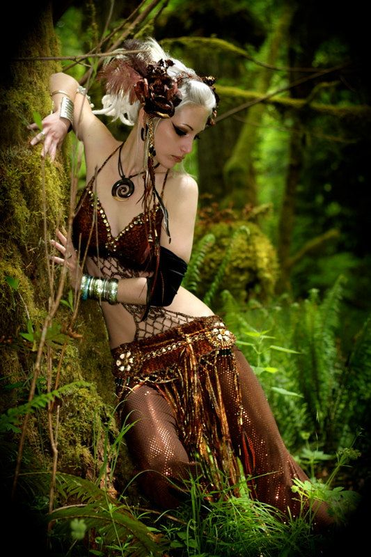 tribal bellydance woodland faerie  costume. $499.00, via Etsy.