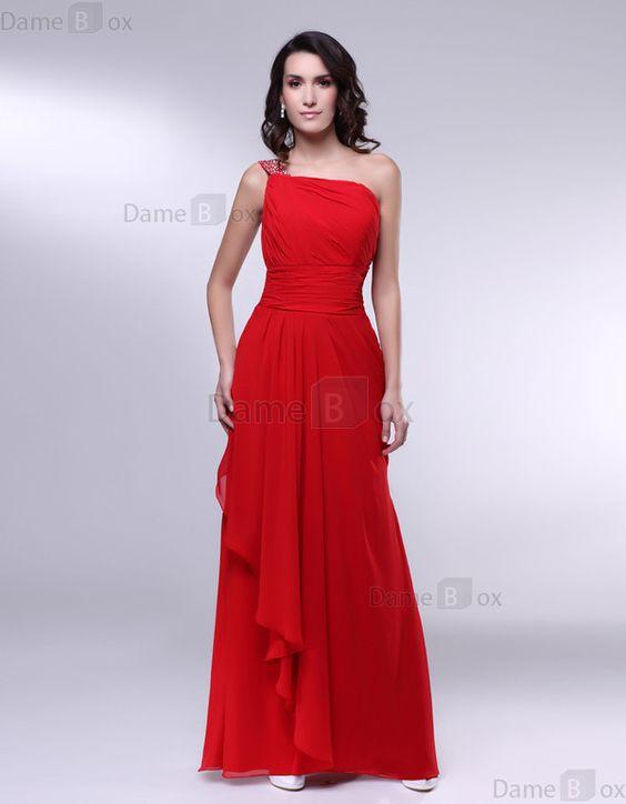 Etui Perlenbesetztes Chiffon Elegantes Abendkleid mit Rüschen - Damebox.com