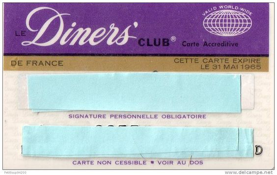 Diners Club France 1965