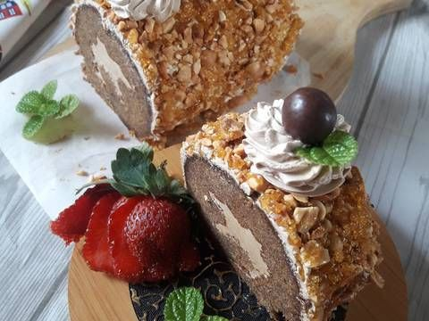 Resep Mocca Nougat Roll Cake Oleh Kheyla S Kitchen Resep Resep Dekor Margarin