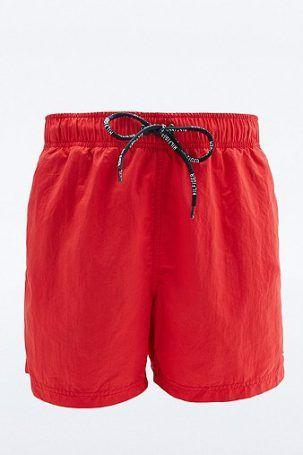 Tommy Hilfiger – Badeshorts in Rot mit Logo – Herren M