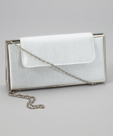 Take a look at this Silver Sparkle Dominique Clutch by Carlo Fellini on #zulily today!
