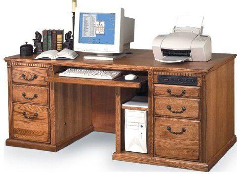 "Huntington Oxford 69"" W Executive Computer Desk Finish"
