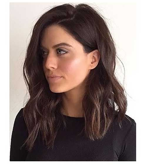 25 Best Long Bob Haircuts For Women Halflang Haar Bruin Bruin