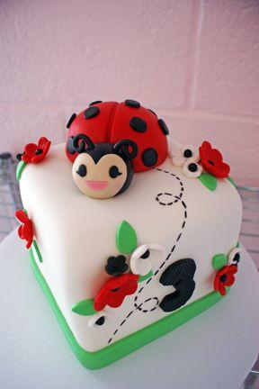 lady bug cake for birthday girl   Birthday Cakes   Oklahoma's Premier Wedding Cake Designer and Sugar ...
