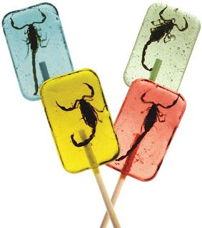 These bug lollies look pretty cool :wondering if they are real bugs: