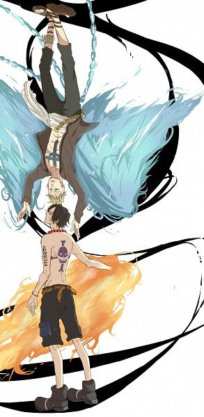 Marco the Phoenix and Portgas D. Ace #one piece:
