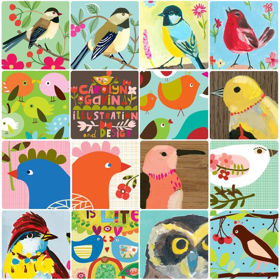 a collection of some of my birds over the years.   designs from ecojot designer Carolyn Gavin - BLOG