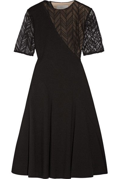 Jason Wu | Lace-paneled stretch-ponte dress | NET-A-PORTER.COM