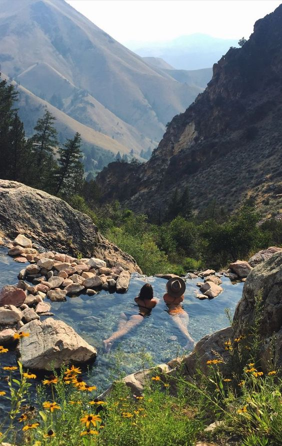 Hot springs in Idaho: