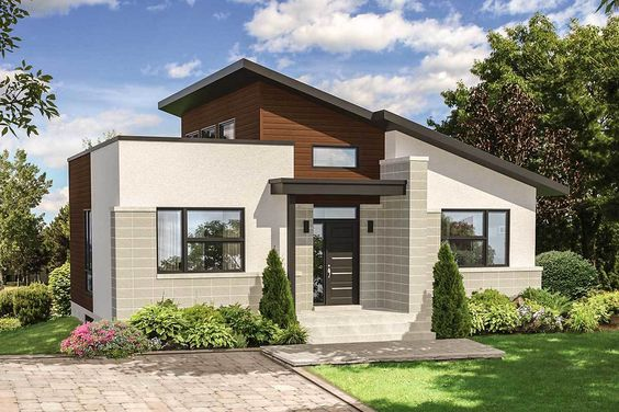 Plan 80775pm Bold And Compact Modern House Plan Flat Roof House Modern House Plans Modern House