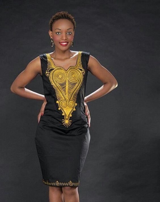Ladies embroidered dress african clothes by pageuk