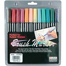Uchida Brush Art Marker Set - 12-pack - Victorian