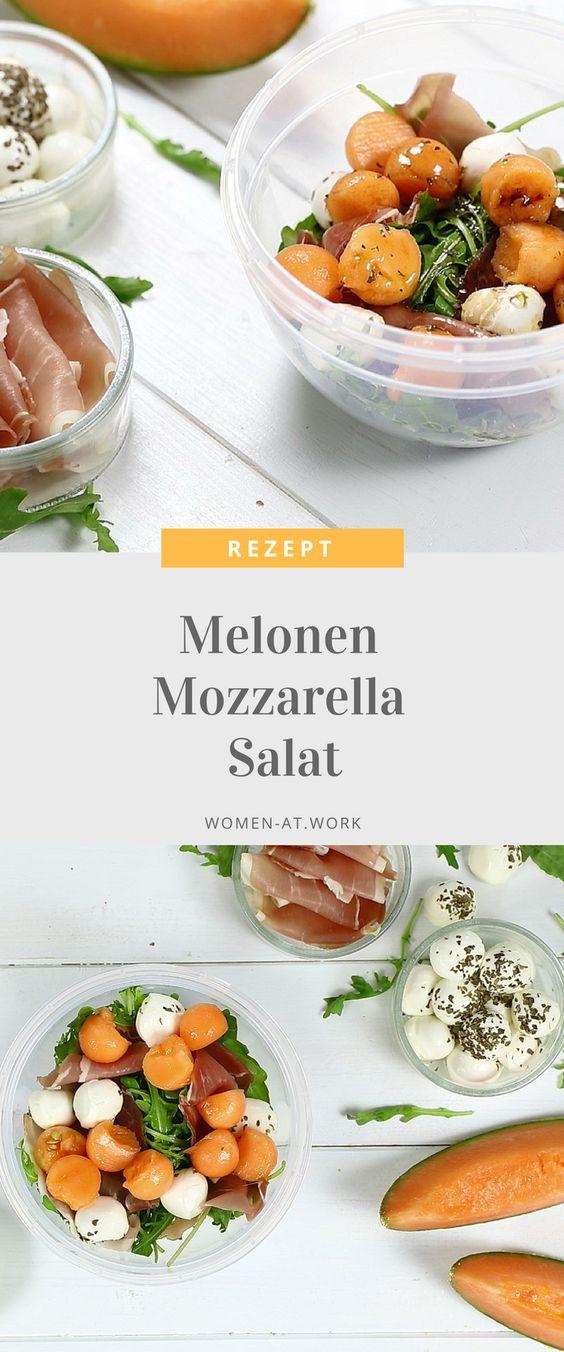 Melonen Mozzarella Salat in der Salatbox mit Emsa CLIP & GO