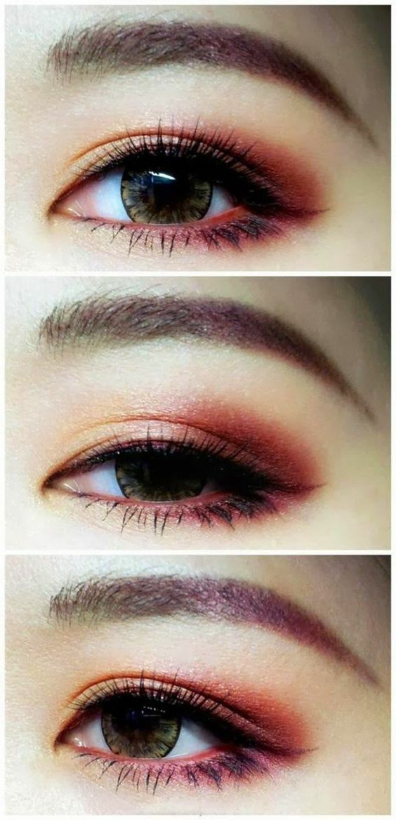 maquillage yeux noisette, smokey eyes marron, fard a paupiere en rose