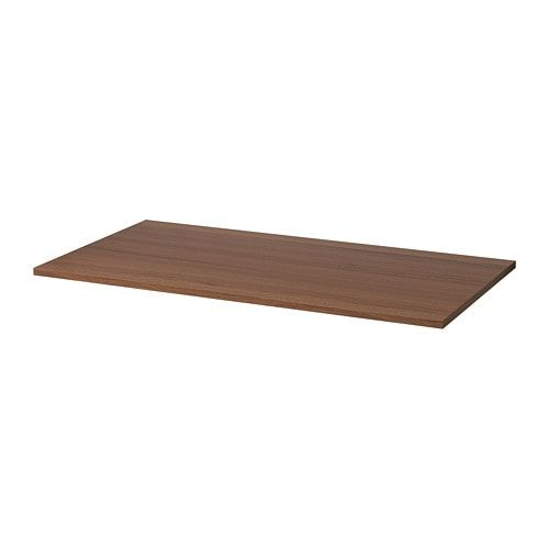 Idasen Tabletop Brown 63x31 1 2 Ikea Clear Acrylic