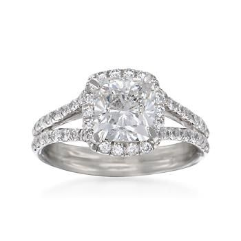 Ross-Simons - 2.54 ct. t.w. Certified Diamond Engagement Ring in Platinum - #786250