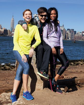 Triple Threat The Teen Vogue marathoners show off their Nike looks along the East River in Brooklyn