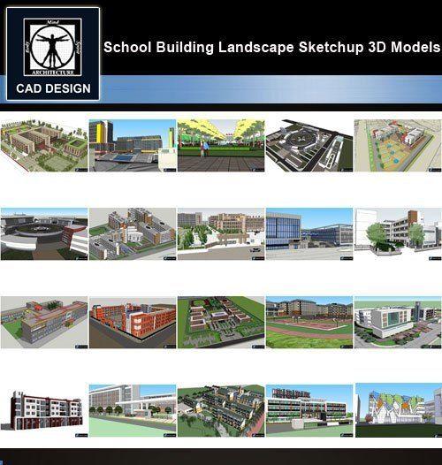 Sketchup 3d Models 20 Types Of School Sketchup 3d Models V 3