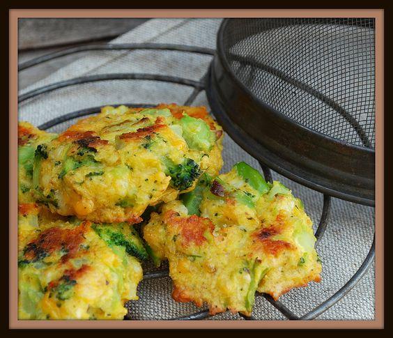 Broccoli Cheese Bites - baked