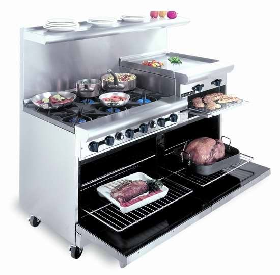 American Range Ar 6b 24rg 60in Gas 6 Burner Restaurant Range W 24 Griddle 2 Ovens Kitchen Equipment Cooking Outdoor Kitchen Appliances Outdoor Kitchen Design