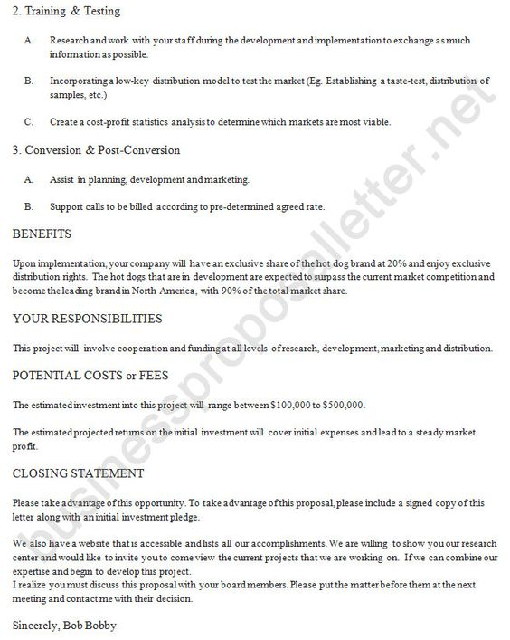 Business Proposal Letter (businessproposa) on Pinterest - letter of intent example