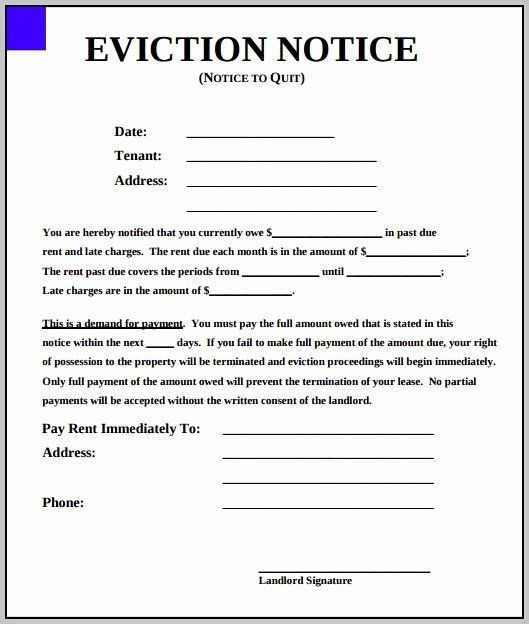 Template For Eviction Notice Fresh Eviction Notice Template New York State Eviction Notice Being A Landlord Rental Agreement Templates