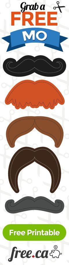 Free Printable Mustache Templates http://free.ca/blog/moustache-templates/: