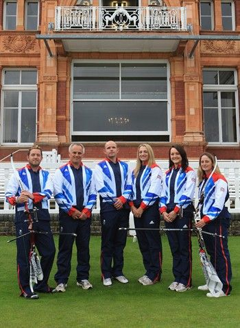 Larry Godfrey, Simon Terry, Alan Wills, Alison Williamson, Amy Oliver and Naomi Folkard during the announcement of the archery athletes named to Team GB for London 2012.    http://www.nbcolympics.com/photos/archery/great-britain-names-olympic-archery-team.html#