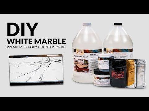 Premium White Marble Fx Poxy Countertop Kit In 2020 Epoxy Countertop