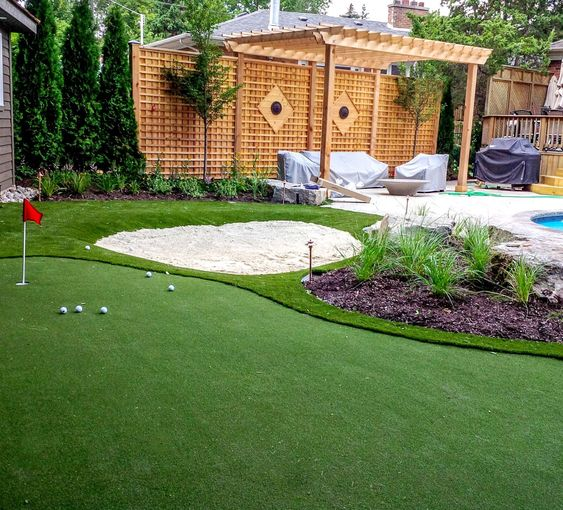 Fake Grass For My Backyard : Backyard putting green, Artificial turf and Save water on Pinterest