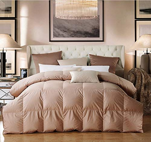 15 85 White Goose Down Feather Comforter Duvet For Winter 100 Down Proof Cotton Fabric 600 Fp Brown King Down Comforter Duvet Comforters King Size Duvet