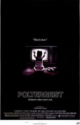 Poltergeist This is the film that justified my fear of clowns and trees near windows. I think I was about nine when I saw this movie and suddenly I was afraid to look under the bed again!  It's the classic haunted house tale. A family home is haunted by spirits that move furniture, steal children, and communicate through the television. When you add in the scene of a paranormal investigator pulling his own face off, it ranks pretty high on the scream scale.