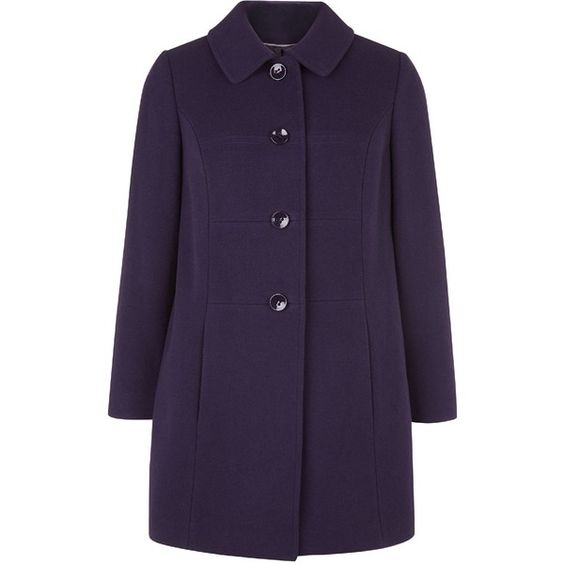 Eastex Purple Seam Detail Coat (227545 KRW) ❤ liked on Polyvore