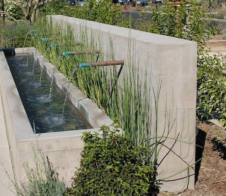 water feature... modern rustic