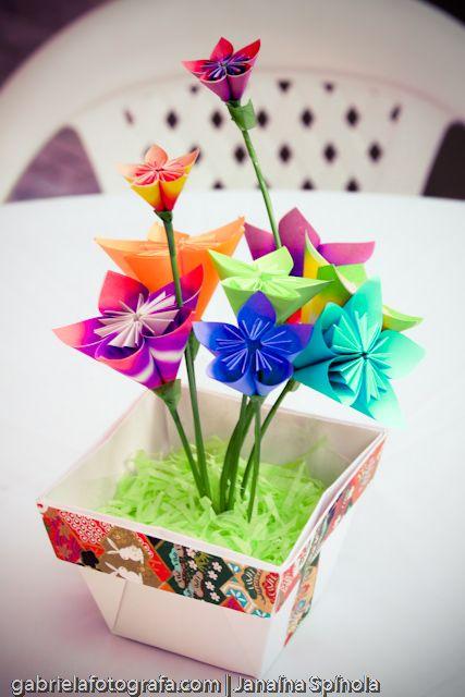vasinho de origami